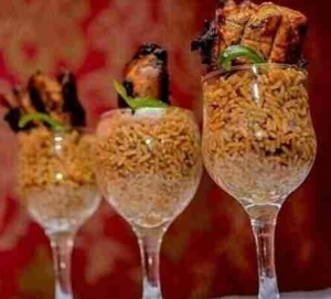 Why will someone put jollof rice in a wine glass?